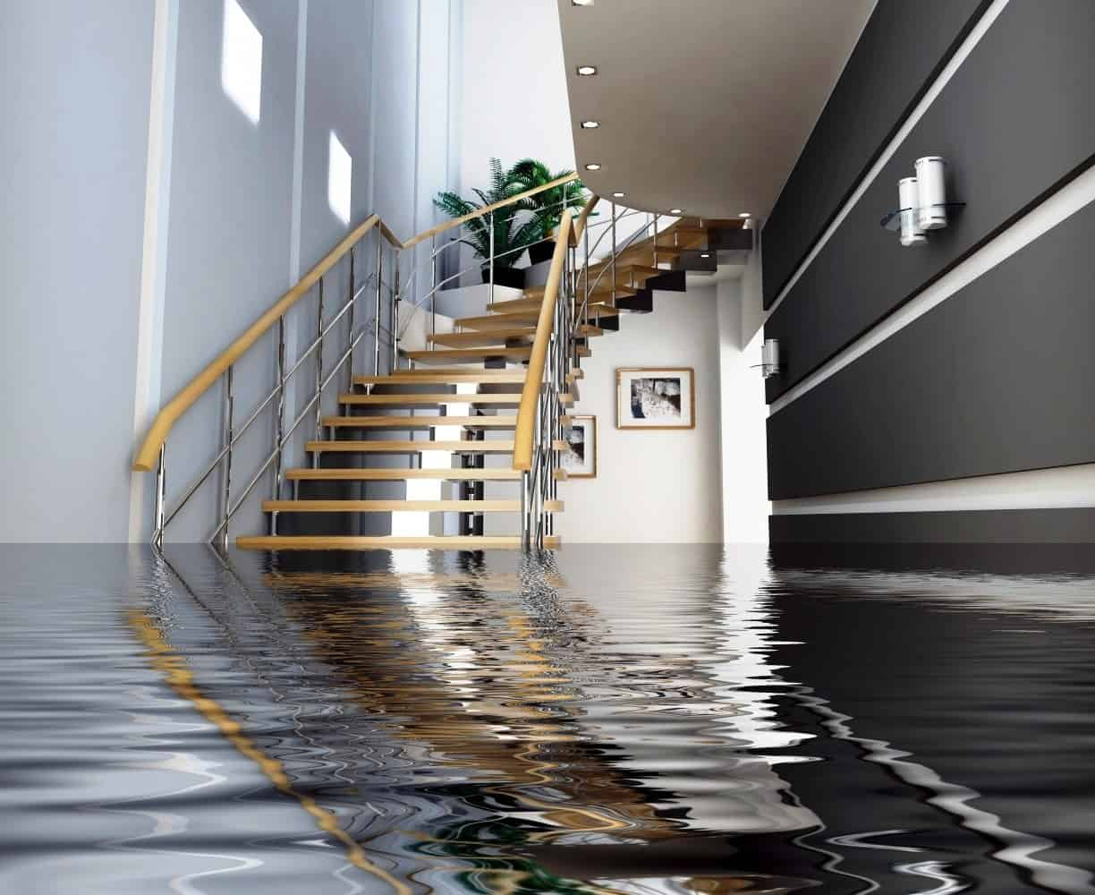 flood water damage inside home