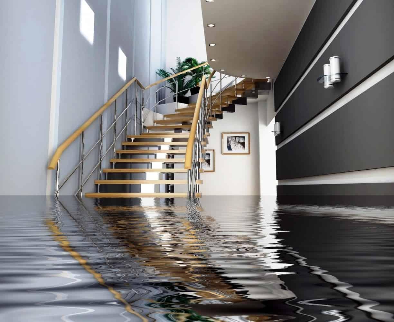 flood water damage inside home