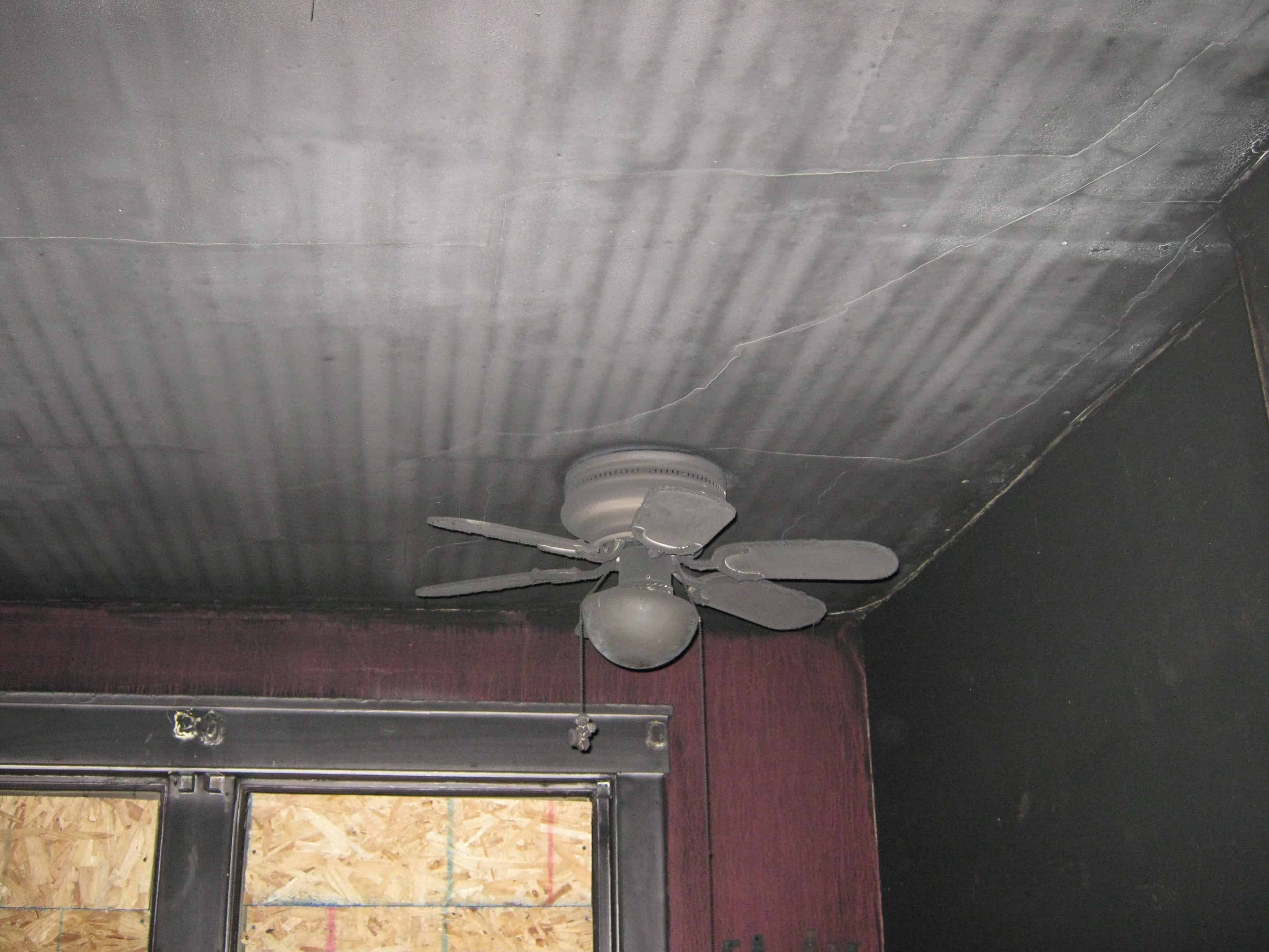 puff back damage on ceiling