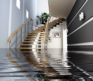 flood water inside house